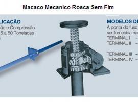 Macaco Mecânico de Rosca Sem Fim