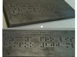 Placa Carimbo em Braille para Gravação
